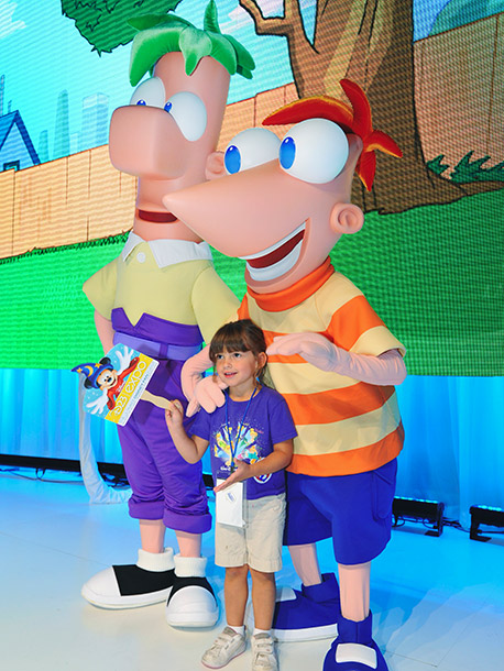 Phineas and Ferb make a big impression with some of their littlest fans.