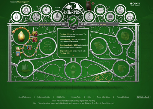 As you progress, you'll be assigned to one of Hogwarts' four houses. This is the main screen for the serpentine scalawags who end up assigned…