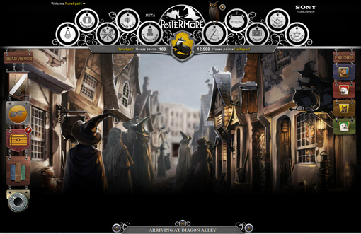 ''Arriving at Diagon Alley'' is one of the many interactive tableaux representing iconic scenes from the books. You can buy wands, books, owls, and potion…