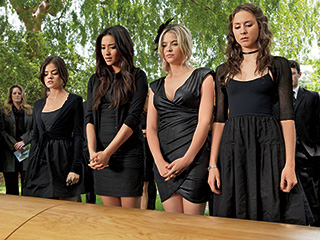 Lucy Hale | PRETTY UGLY The 'Liars' lives are haunted by the ghost of their dead friend and an ominous stranger named A