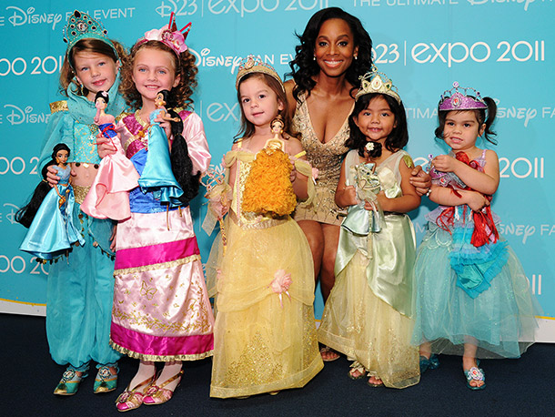 Anika Noni Rose (The Princess and the Frog) and a few other little princesses helped unveil the new Princess Designer Doll collection.