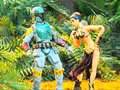 Slave Leia in Robot Chicken