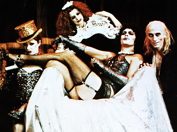The Rocky Horror Picture Show, Richard O'Brien, ... | To be fair, he was meant to be a little scary looking, right?— AW