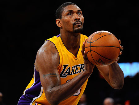 Star quality: Pro basketball player Ron (who, come Nov. 16, will be known as Metta World Peace) says: ''I'm gonna wear sequins and a jockstrap.…
