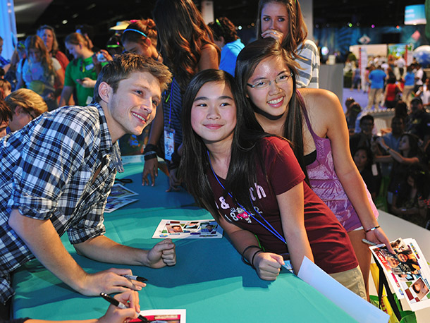 Sterling Knight from So Random meets the fans.
