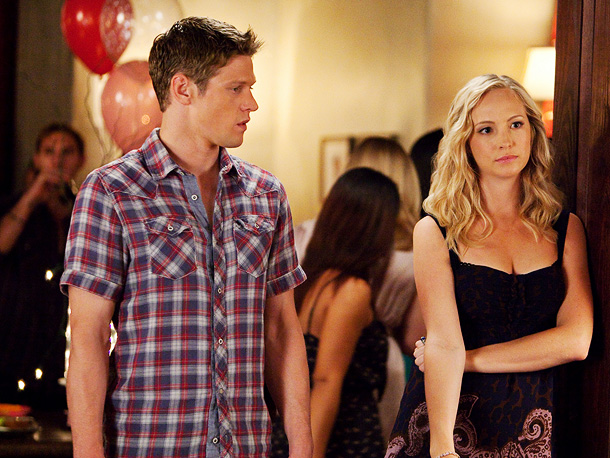 Zach Roerig (Matt) and Candice Accola (Caroline)
