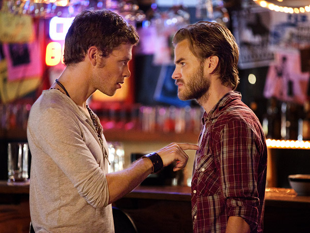 Joseph Morgan (Klaus) and David Gallagher (Ray)