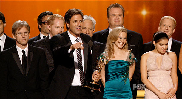 Emmy Awards   Gwyneth Paltrow presenting had me thinking Glee had it in the bag, but Modern Family earned its Best Comedy Emmy with the type of humor…