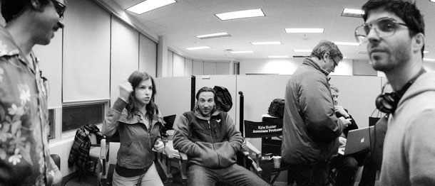 Anna Kendrick and director Jonathan Levine (far right)