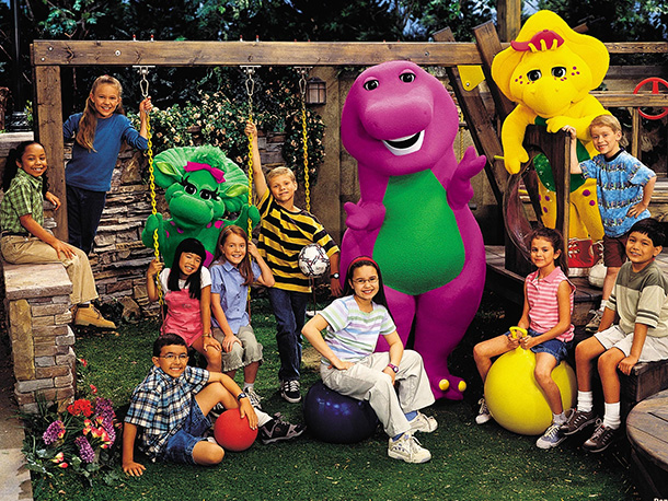 Barney, Demi Lovato   Before the backlash (if only briefly), you know you loved him as much as he loved us and we were all a purple dinosaur-watching happy…
