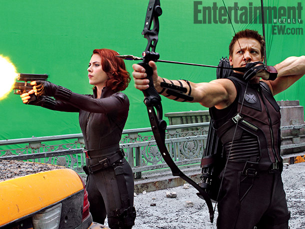 Scarlett Johansson (Black Widow) and Jeremy Renner (Hawkeye)