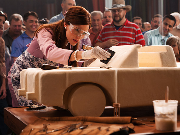 Jennifer Garner (pictured) and Ty Burrell star in a film about the competitive world of butter carving? I'm in. — DK