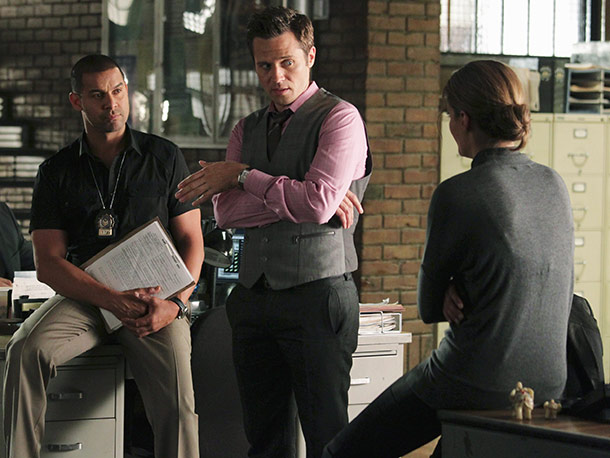 Jon Huertas, Seamus Dever, and Stana Katic