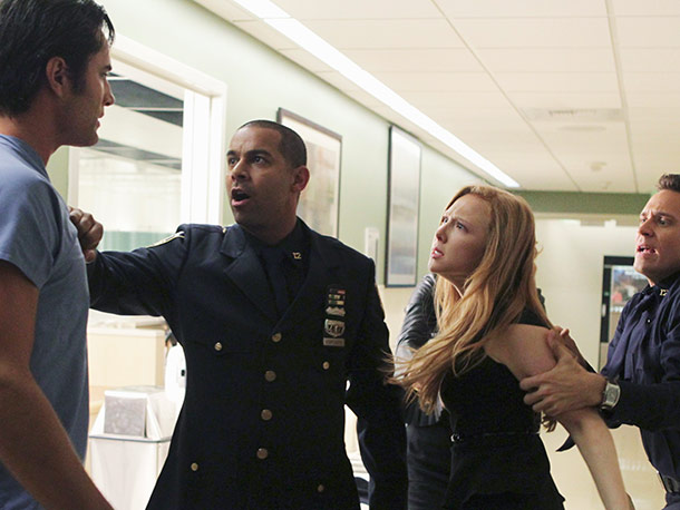 Victor Webster, Jon Huertas, Molly Quinn, and Seamus Dever
