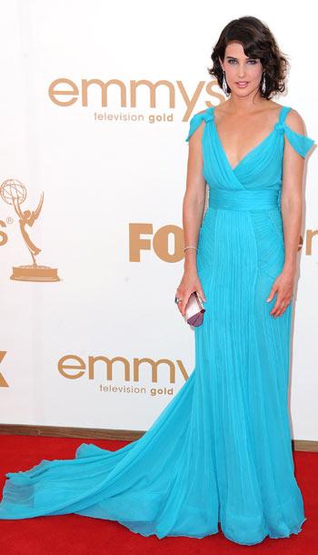 Cobie Smulders in Alberta Ferretti