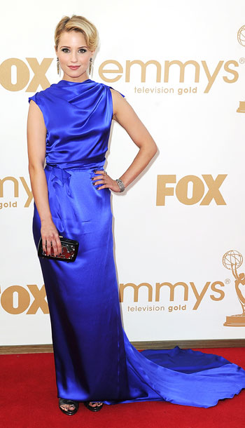Dianna Agron | Channeling Grace Kelly, Agron scored with a brilliant color and flopped with a misshapen silhouette. B-