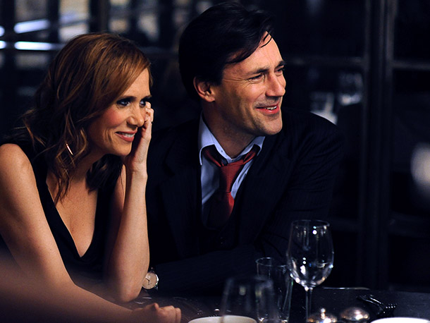 One of the most highly anticipated titles is Jennifer Westfeldt and Jon Hamm's comedy (with Kristen Wiig and Hamm, pictured). — DK