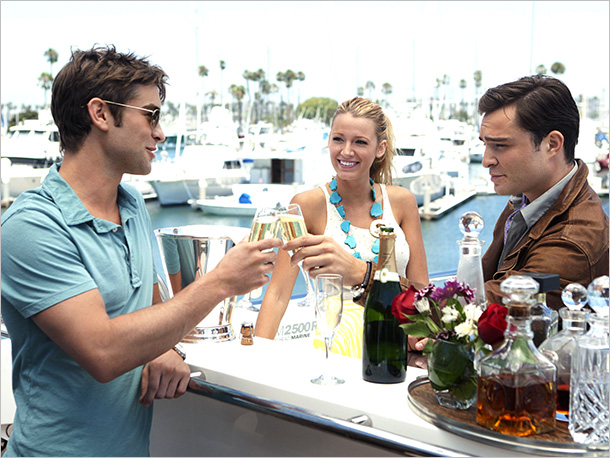 Chace Crawford, Blake Lively, and Ed Westwick
