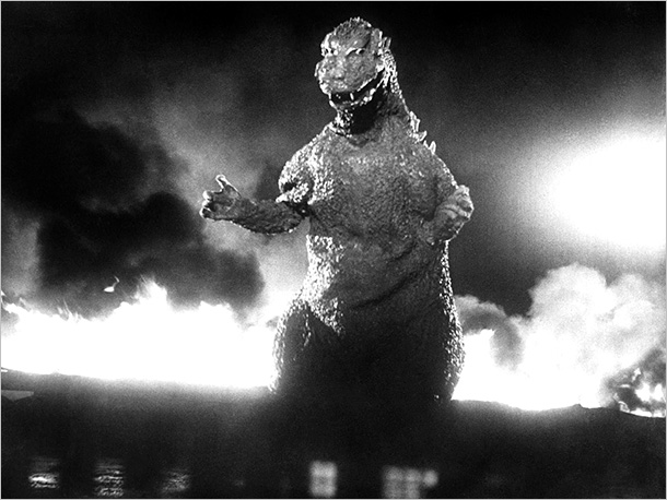 Godzilla (Movie - 1954)   Sure, this building-stomping, city-terrorizing movie monster may not technically be a dinosaur but we say that's just splitting hairs.