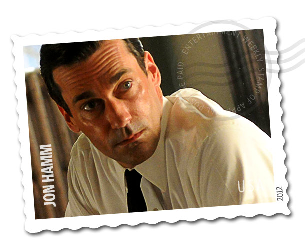 Jon Hamm | Oh, who are we kidding? All we really want is a Jon Hamm stamp. Like his Mad Men character, the stamp would taste like booze…