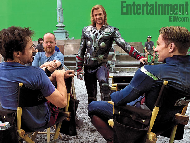 Chris Evans, Joss Whedon, ... | For our feature on The Avengers , pick up a copy of the issue on stands this week.