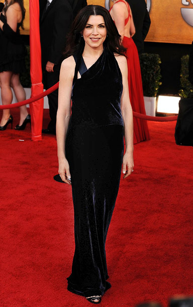 Julianna Margulies | The Good Wife 's Best Actress in a Drama nominee is the favorite to take home the trophy tonight, but win or lose, we expect…