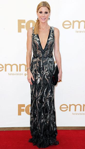 Julie Bowen | Like Danes, the Emmy winner struck gold in a similarly structured — and still dazzling — Oscar de la Renta dress. B