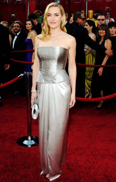Kate Winslet | The great Kate always comes through on the red carpet, and as a nominee (for her turn in the HBO miniseries Mildred Pierce ), we…