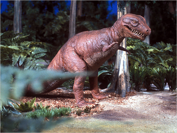 His fights with that other dinosaur Alice were less scary than interesting/trippy to watch, like pretty much everything else on that show.