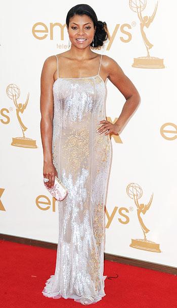 Taraji P. Henson | Did Henson's invite call for sparkly nightgown-wear? F