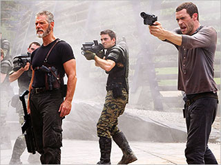 Jason O'Mara | Stephen Lang, Jason O'Mara, and another cast member from Terra Nova