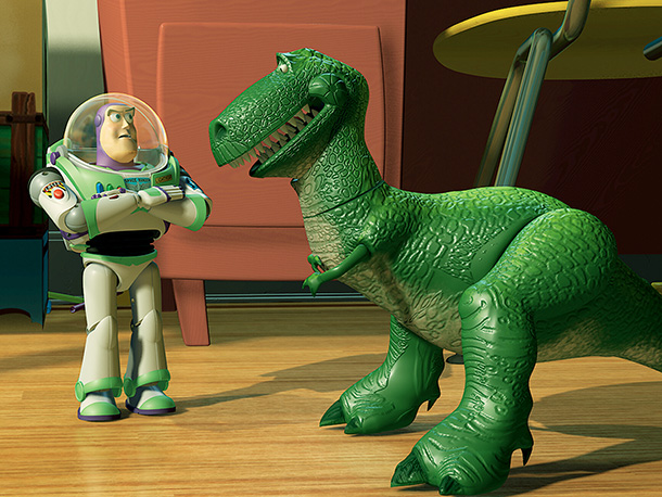 Toy Story   This nervous Nellie can't scare anyone who actually knows him, but he often overcomes his fearfulness with little bouts of bravery.