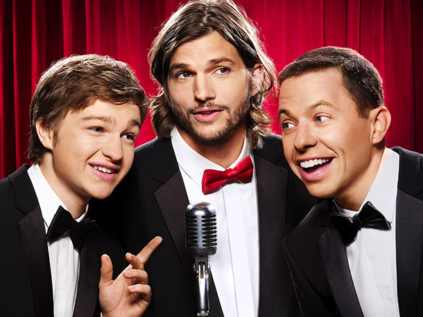Two and a Half Men | Monday, 8-8:30 p.m., CBS The warlock has left the building. With the spectacular, bridge-burning, jumping-down-?the-inflatable-?emergency-slide exit of Charlie Sheen from Two and a Half Men…