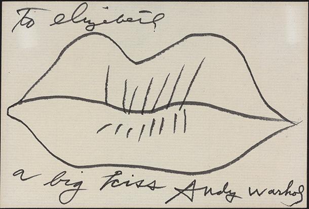 Untitled Warhol ink on paper Estimated value: $6,000-$8,000