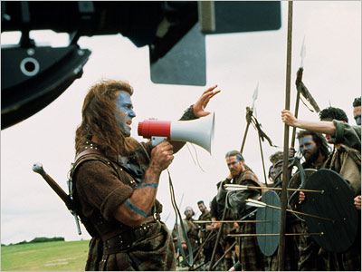 Mel Gibson, Braveheart | Braveheart (1995) After the intimate drama of his first directing project, The Man Without a Face , this stirring historical drama about 13th-century Scottish rebel…
