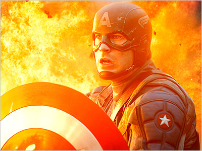 THE SHIELD Chris Evans plays Captain America