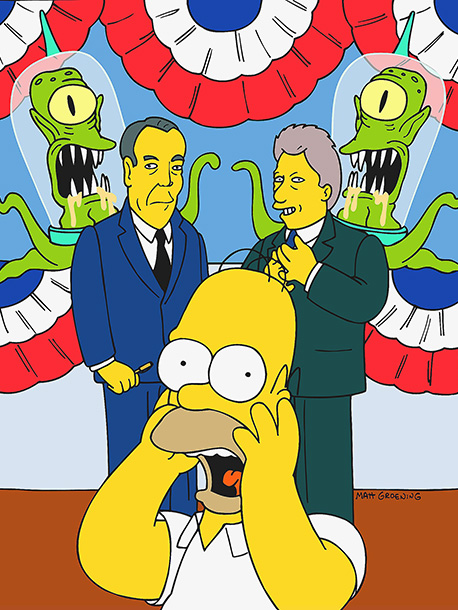 The Simpsons | Kang and Kodos possess the bodies of Bill Clinton and Bob Dole — and no one notices. ''This might win the vote of the most…