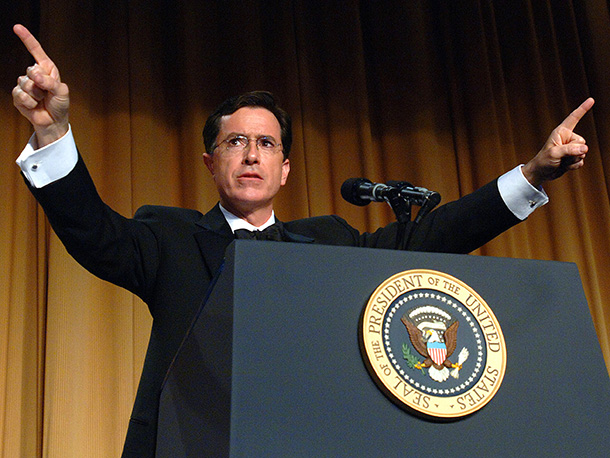 Stephen Colbert   The immediate media reaction to Colbert's bold critique of the Bush Administration and its enablers in the press at the White House Correspondents Dinner in…