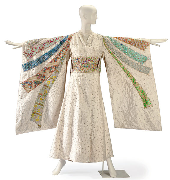 A Tiziani Kimono made for Elizabeth Taylor when she played Flora 'Sissy' Goforth in the 1968 Universal film Boom! Estimated value: $4,000-$6,000