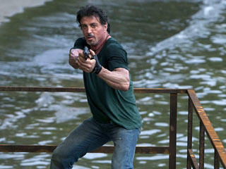 The Expendables, Sylvester Stallone | STOP OR MYSELF WILL SHOOT Sylvester Stallone pulls the trigger in The Expendables