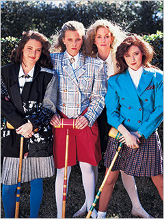 Winona Ryder, Shannen Doherty, ... | BIRDS OF A HEATHER Mean Girls in the '80s played croquet