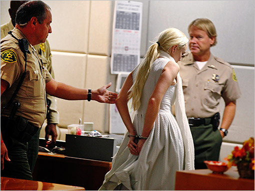 Lindsay Lohan Cuffs