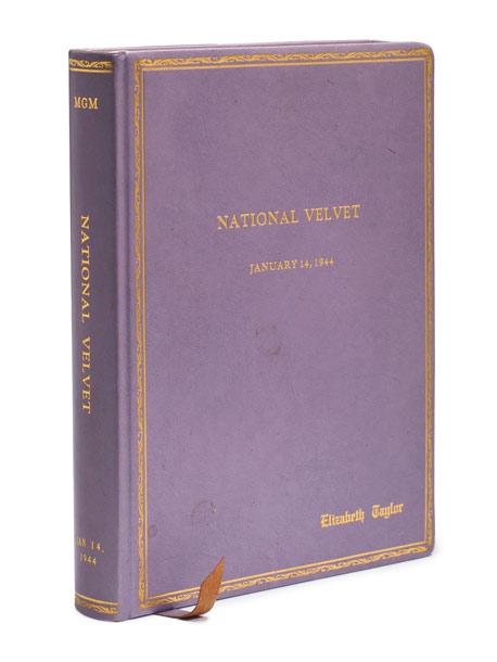 Elizabeth Taylor's script for the 1944 MGM production of National Velvet . Estimated value: $2,000-$3,000