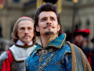 ALL FOR ONE AND FACIAL HAIR FOR ALL Christoph Waltz and Orlando Bloom in The Three Musketeers