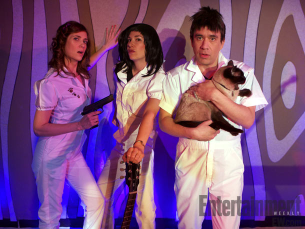 Fred Armisen, Kristen Wiig | Behold, your new favorite band: Catnapped. The feline-fronted rock group will make its debut when Wiig (left) joins her SNL castmate Fred Armisen and his…