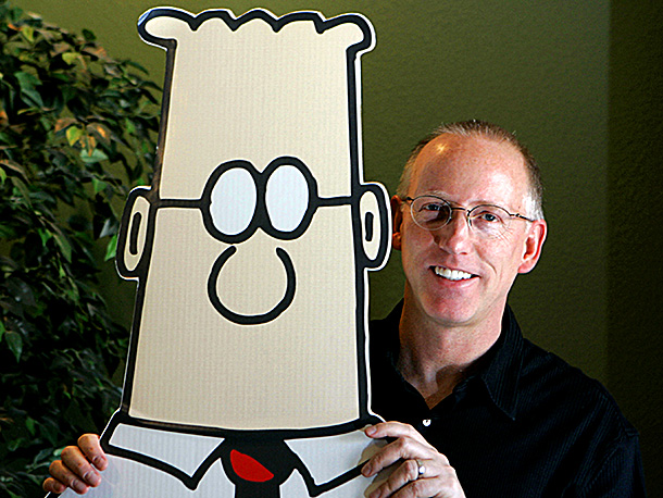 Scott Adams, Dilbert   Though best known for pioneering office-drone satire as the creator of the wildly successful Dilbert cartoons, Adams has an extracurricular track record of extending his…