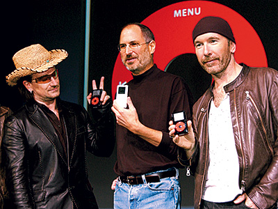 Oct. 26, 2004 — Apple introduces the iPod U2 Special Edition with its distinctive black-and-red color scheme. Bono calls the iPod ''the most beautiful object…