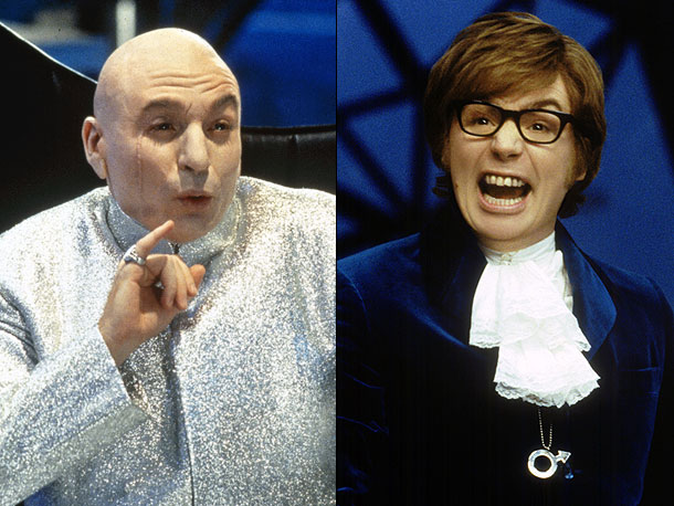 Austin Powers | One meeellion dollars? More like worldwide box office revenue of $675 million . Myers always appears to be channeling multiple personalities at once — a…