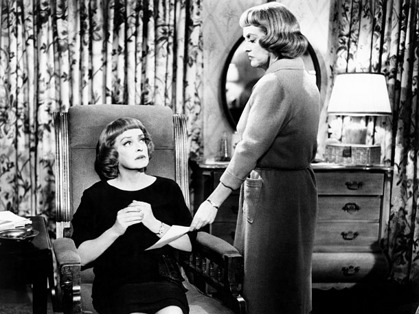 Bette Davis | Davis plays a woman who murders her twin sister and assumes her identity (and that's just for starters) in this high-camp thriller. The feverishly nutty…