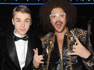 LMFAO, Justin Bieber